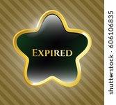 vector illustration of expired... | Shutterstock .eps vector #606106835