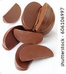 chocolate orange | Shutterstock . vector #606106997