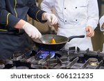 cake on white cooking board.... | Shutterstock . vector #606121235