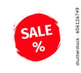 red spot with word sale... | Shutterstock .eps vector #606126749