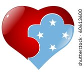 vector red heart with the... | Shutterstock .eps vector #60613600