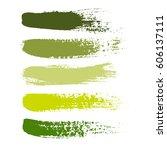 set of color paint  ink brush... | Shutterstock .eps vector #606137111