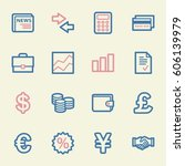 finance web icons set | Shutterstock .eps vector #606139979