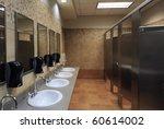 lavatory sinks in a public...   Shutterstock . vector #60614002