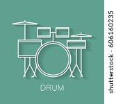 music instrument retro line...   Shutterstock .eps vector #606160235