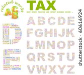 tax. vector letter collection.... | Shutterstock .eps vector #60616924