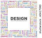 design. word collage on white... | Shutterstock .eps vector #60617080