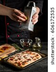 cooking pizza or italian bread