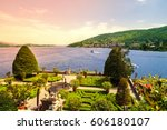 isola bella  stresa  lago... | Shutterstock . vector #606180107