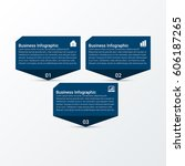 modern business infographic... | Shutterstock .eps vector #606187265