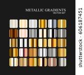 metallic silver  golden and... | Shutterstock .eps vector #606187451