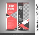 roll up banner template design. ... | Shutterstock .eps vector #606191465
