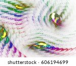 abstract fractal background 3d