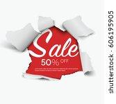 sale concept. vector realistic...   Shutterstock .eps vector #606195905