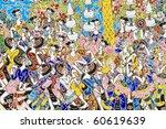 texture of ceramic background - stock photo
