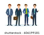 group of office workers. people ... | Shutterstock .eps vector #606199181