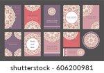 mandala vintage template card ...   Shutterstock .eps vector #606200981