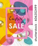 easter sale vector illustration.... | Shutterstock .eps vector #606202499