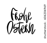 decorative handdrawn lettering. ... | Shutterstock .eps vector #606206969