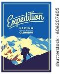 extreme outdoor adventure... | Shutterstock .eps vector #606207605