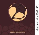 Petal Globe Design Vector - stock vector