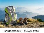 Hiking Equipment. Backpack And...