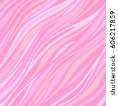abstract pink waves. strips... | Shutterstock .eps vector #606217859