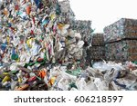 pile of sorted plastic waste ... | Shutterstock . vector #606218597