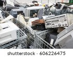 electronic devices dump site. e ... | Shutterstock . vector #606226475
