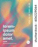 modern design for poster ... | Shutterstock .eps vector #606229064