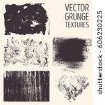 monochrome abstract vector... | Shutterstock .eps vector #606230225