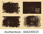 monochrome abstract vector... | Shutterstock .eps vector #606230315
