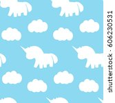 seamless pattern with cute... | Shutterstock .eps vector #606230531