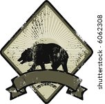 bear grunge logo | Shutterstock .eps vector #6062308