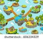 seamless background for games.... | Shutterstock .eps vector #606234329