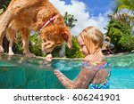 little child play with fun and... | Shutterstock . vector #606241901