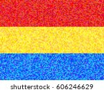 flag of romania from the... | Shutterstock .eps vector #606246629