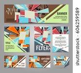 design of flyers  banners ... | Shutterstock .eps vector #606259589