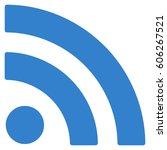 rss vector icon. flat cobalt...