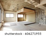 being renovated house | Shutterstock . vector #606271955