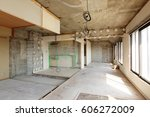 being renovated house   Shutterstock . vector #606272009