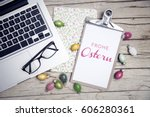 easter background with...   Shutterstock . vector #606280361