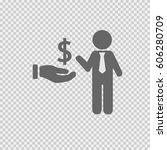business profit vector. dollar... | Shutterstock .eps vector #606280709