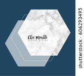 minimalist marble texture... | Shutterstock .eps vector #606293495