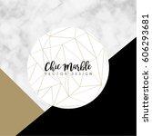 minimalist marble texture... | Shutterstock .eps vector #606293681