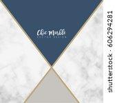 minimalist marble texture... | Shutterstock .eps vector #606294281