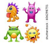 bacteria with facial...   Shutterstock .eps vector #606298751