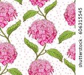 seamless vintage floral pattern ... | Shutterstock . vector #606315545