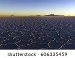 the world's largest salt flat ... | Shutterstock . vector #606335459