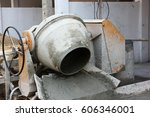 cement mixer machine in... | Shutterstock . vector #606346001